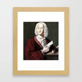 Antonio Vivaldi (1678-1741) by Morellon de la Cave in 1725 Framed Art Print