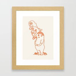 Your Little Cloudy Ghost (With Staches) Framed Art Print