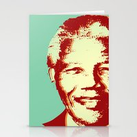 mandela Stationery Cards featuring NELSON MANDELA by mark ashkenazi