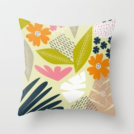 Modern botanic garden Throw Pillow