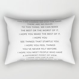 Life quote, F. Scott Fitzgerald Quote - For what it's worth Rectangular Pillow