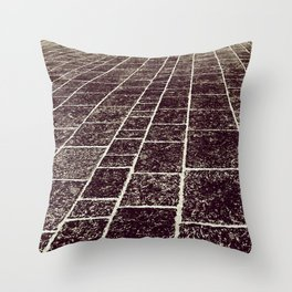 texture of the old stone paving Throw Pillow