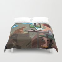 laptop Duvet Covers featuring Laptop by Josue Noguera