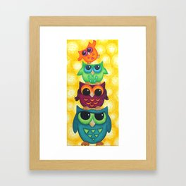 Look Who's On Top Framed Art Print