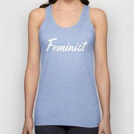 Feminist (on black) Unisex Tank Top
