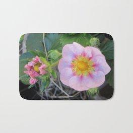 Strawberry blossom Bath Mat