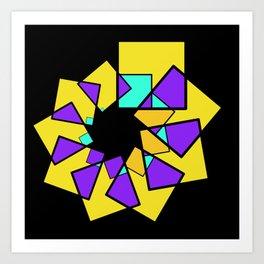 moving squares -03- Art Print