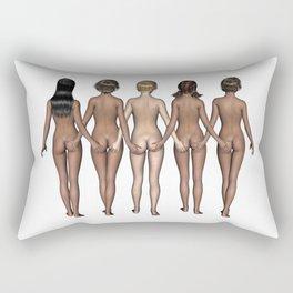 Cheeky Girls Holding Bottoms Rectangular Pillow