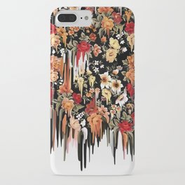 Free Falling, melting floral pattern iPhone Case