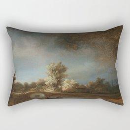 Rembrandt - The Stone Bridge Rectangular Pillow