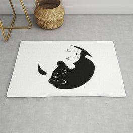 Yin Yang Kitten Rug