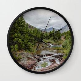 Upper Redrock Falls - Glacier NP Wall Clock