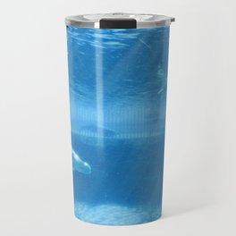 Ocean Blue Beluga Pairs Version 2 Travel Mug