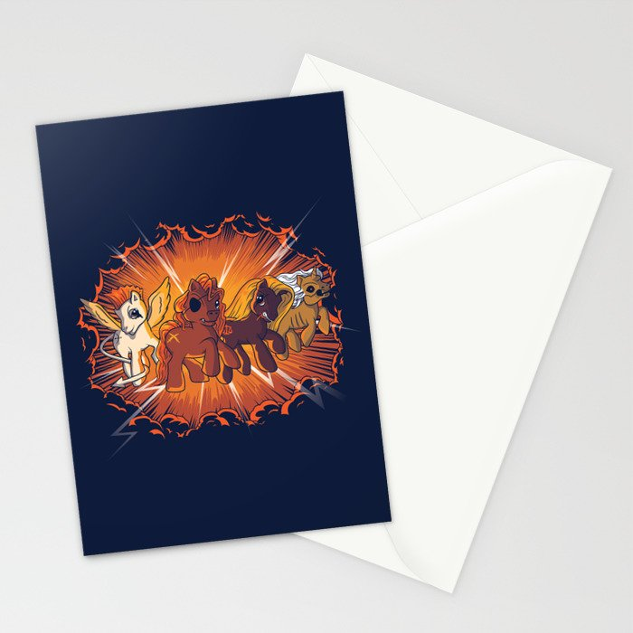 Four Little Ponies of the Apocalypse Stationery Cards