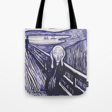 The Scream's Haze (dark blue) Tote Bag