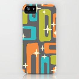 Retro Mid Century Modern Abstract Pattern 634 iPhone Case