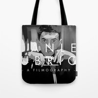 kubrick Tote Bags featuring Opening Kubrick by Martin Woutisseth