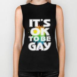 ok - Gay Pride T-Shirt Biker Tank