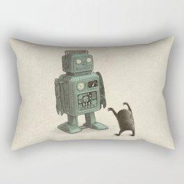 Robot Vs Alien Rectangular Pillow