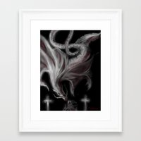 dragons Framed Art Prints featuring Dragons by DragonsTime