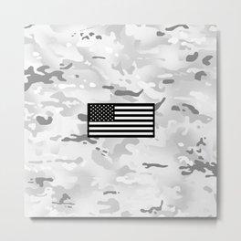 Arctic Camouflage: Black Flag Metal Print