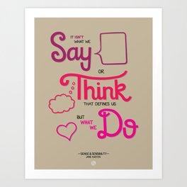 Sense & Sensibility Art Print
