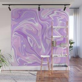 Blend of Pink Purple Velvet Violet Color Marble Wall Mural