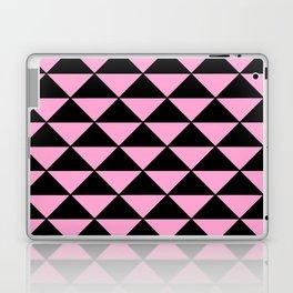 Graphic Geometric Pattern Minimal 2 Tone Infinity Triangles (Pastel Pink & Black) Laptop & iPad Skin