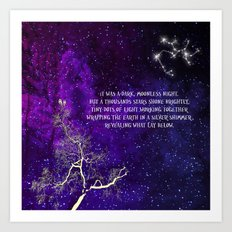 A Thousand Stars Shone Brightly Art Print