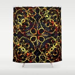Flashy Colorful Boho Pattern Shower Curtain