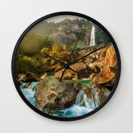 Rocky Waterfall (Color) Wall Clock