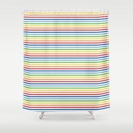 Vintage T-shirt No7 Shower Curtain