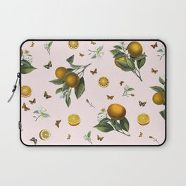 Oranges and Butterflies in Blush Laptop Sleeve