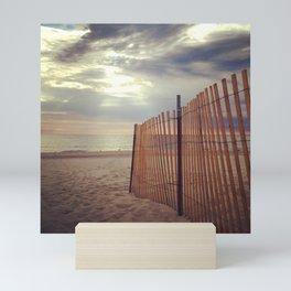 beach fence Mini Art Print