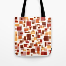 Red Abstract Rectangles Tote Bag