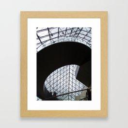 Louvre staircase Framed Art Print