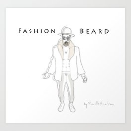 Fashion beard Art Print