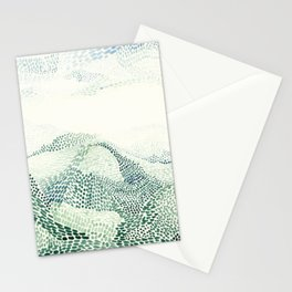Meeting mountains Stationery Cards