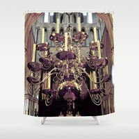 chandelier Shower Curtains featuring Chandelier  by Jonathan Wright Productions
