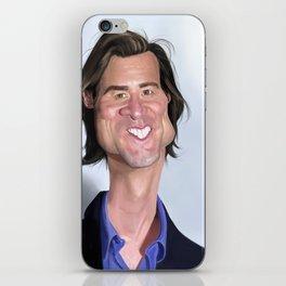 Jim Carrey Caricature art iPhone Skin