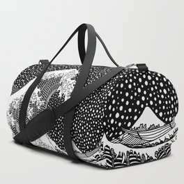 The wave of Kanagawa. Hokusai Duffle Bag