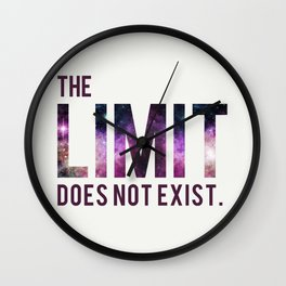 The Limit Does Not Exist - Mean Girls quote from Cady Heron Wall Clock