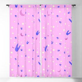 Sailor Moon inspired vibrant pattern on pink Blackout Curtain