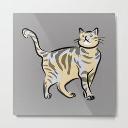 cat (grey) Metal Print