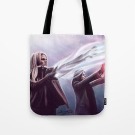 The Savior and the Evil Queen Tote Bag