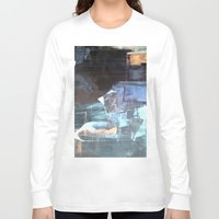 broadway Long Sleeve T-shirts featuring Midnight Broadway East No.46 by Xi By Xi Chen