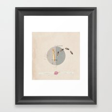 Gravity | Collage Framed Art Print
