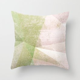 Frozen Geometry - Pink & Green Throw Pillow