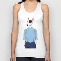bull terrier Tank Tops featuring Skinhead Bull Terrier by Studio Drawgood