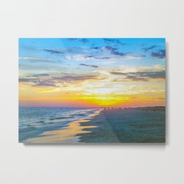 Sunset On Isle Of Palms Metal Print